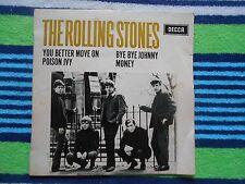 "THE ROLLING STONES - BYE-BYE JOHNNY -1964  RARE AUSTRALIAN  EP 7"" 45   PIC SLV"