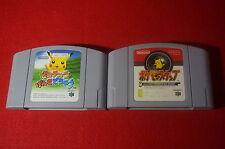 lot of 2 games pikachu pokemon snap set Japan Nintendo 64 N64 Japanese