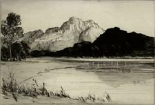 WILLIAM RENISON Signed Etching LOCH KATRINE SCOTLAND c1920