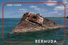 Wreck of H.M.S. Vixen Block Ship vs. U-Boats World War I, Bermuda UK -- Postcard