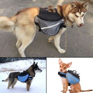 AM_ AC_ Outdoor Pet Dog Travel Hiking Camping Saddle Bag Backpack Harness Back P