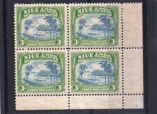 Niue GV1 1938 block 3s. blue & yellowish green sg 77 H.Mint/VLH.Mint