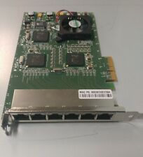 Silicom PEXG6I-RoHS V 1.0 6-Port Copper Gigabit Ethernet PCIe Server Adapter qty