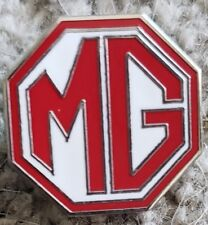 NEW RED WHITE MG CAR LAPEL PIN