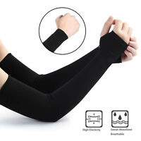 Breathable Quick Dry UV Protection Running Arm Sleeves Basketball Elbow Fitness