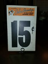 VINTAGE 1950 ERA GROCERY STORE SALE COUNTER SIGN VALLEY ROUNDUP 15c COWBOY THEME