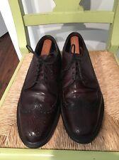 Vintage Weyenberg Wingtip Pebbled Oxfords shoes Sz 9.5 D
