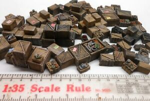 Diorama 1/35 60 Piece Unpainted Clutter Detail Boxes Crates Buy 2, Get 3