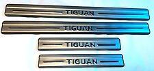 VW TIGUAN 07-15 SET DOOR SILL COVER COVERING TRIM MOLDING METAL SILVER