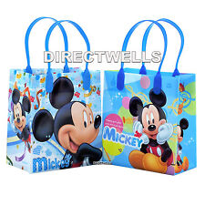 6 Pcs Disney Mickey Mouse Authentic Licensed Small Party Favor Goodie Gift Bags