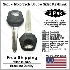 New! Suzuki Motorcycle Double Sided Key Blank - Fits: 2001-09 Gsxr and Hayabusa