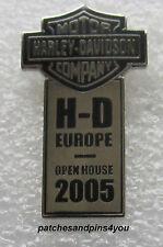 Harley Davidson H-D Europe Open House 2005 Pin New/Rare! FREE U.K. P&P!