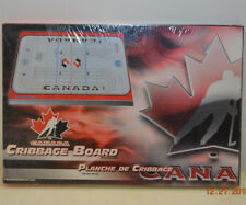 Canada Hockey Ice Sckating Rink Three Track Cribbage Board w/ Pegs - Canadian