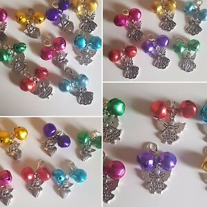Guardian Angel Bells Anti Theft Clip On Charms 6 Colours 3 Styles Gift Wrapped