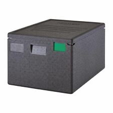 More details for cambro insulated food carrier pan - black polypropylene top loading - 80 l