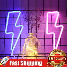 2 Set Lightning Led Neon Sign Light Beer Bar Bedroom Wall Decor Xmas Party Gift