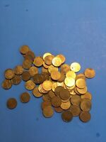 Vintage Lot of 80 LAZER X Arcade Metal Tokens Coins ~ With LOTOS EATERS ~