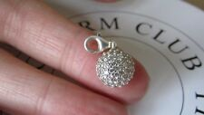 Thomas Sabo Sterling Silver White Pave Zirconia Dome Shaped Charm