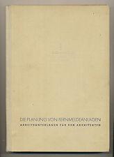 Die Planung von Fernmeldeanlagen Arbeitsunterlagen um 1935 Architekten Siemens