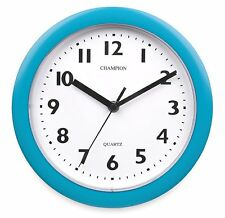 CHAMPION BOLD 9INCH KITCHEN CLOCK BLUE KC515BL