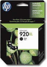 Genuine HP 920XL High Yield Black Ink Cartridge New