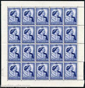 GREAT BRITAIN SILVER WEDDING  SC#268  SHEET  OF TWENTY MINT HINGED FULL OG