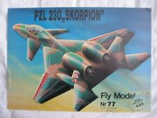 1:33 Polish experimental ground attack jet PZL 230 Skorpion paper model