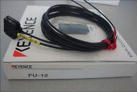 KEYENCE FU-12 Fiber Optic Sensor Transmissive Fiber Unit Free Shipping New FU12