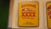 OLD AUSTRALIAN BEER LABEL, CASTLEMAINE XXXX 1980s BITTER ALE 750ml MILTON 1