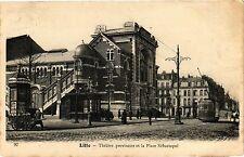 CPA  Lille - Théátre provisoire et la Place Sébastopol  (204046)