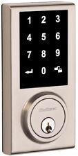Electronic Deadbolt Door Lock Keyless Touchscreen Exterior Security Satin Nickel