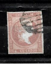 Spain Stamps-Scott # 37/A9- 4c-Bar Canc/LH-1855-NG-IMP