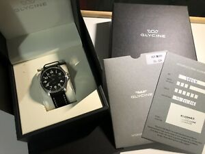 GLYCINE COMBAT *AUTOMATIC* BLACK DIAL WATCH 50m 25JEWELS *SWISS MADE**MINT COND*