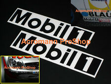 "2x 12"" 30.5cm MOBIL One black decal sticker 1 motor oil DTM porsche vw car audi"