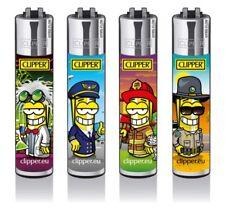 4 x Clipper CLIPERMAN JOBS Lighters  Refillable Flint Regular Size BN GIFT