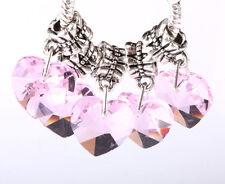 Exquisite 5pcs Silver big hole Beads Fit European Charm Pendant Bracelet #B242