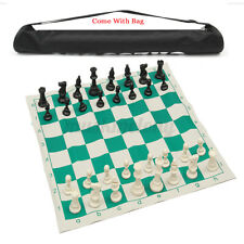 """17"""" Portable Travel Tournament Chess Set with Bag Travelling Camping Game Gifts"""