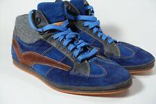 Floris Van Bommel high-top sneakers, blue suede men's shoe size US9