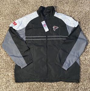 New Atlanta Falcon Sports Illustrated Windbreaker Jacket Dunbrook NFL Size Large