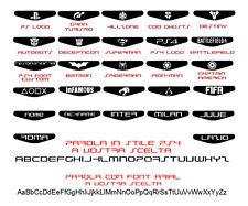 ADESIVI LIGHTBAR CONTROLLER JOYPAD PS4 Dualshock 4  Playstation 10x Sticker