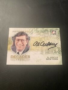 2010 In The Game AL ARBOUR Autograph 1980s Decades #A-AA