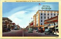 1940s DOUGLAS G Avenue Looking South Hotel Gadsden Postcard CI