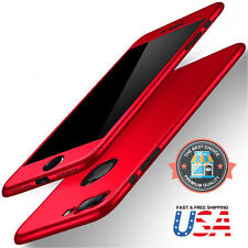 iPhone 7 & 7 Plus 360 Hybrid Full body case and Tempered Glass Screen Protector