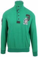 VAN SANTEN & VAN SANTEN Sweatshirt Shirt Polo Größe L Baumwolle Leder Grün Green