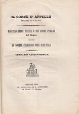 TRENI STORIA FERROVIE ALTA ITALIA CONTRO MINISTERO LAVORI PUBBLICI FINANZE 1866