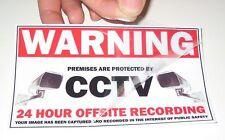 8x CCTV Internal Window Sticker security surveillance warning camera sign notice