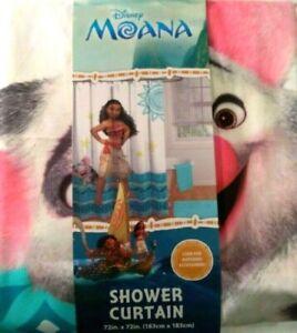 Disney Moana Fabric Shower Curtain NIP
