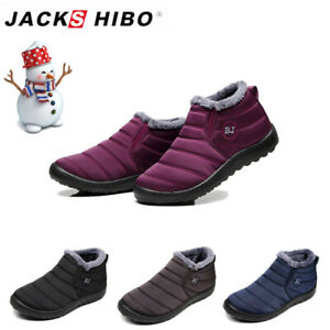 NEW Waterproof Winter Women Shoes Snow Boots Fur-lined Slip On Warm Ankle US