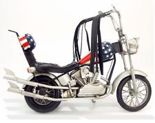Handmade 33CM Antique 1969 Harley Motorcycle Tin Metal Reproduction Bike Model