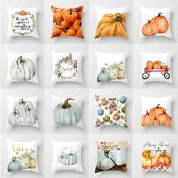 Fall Halloween Pumpkin Pillow Case Waist Throw Cushion Cover Sofa Home Decor SPE